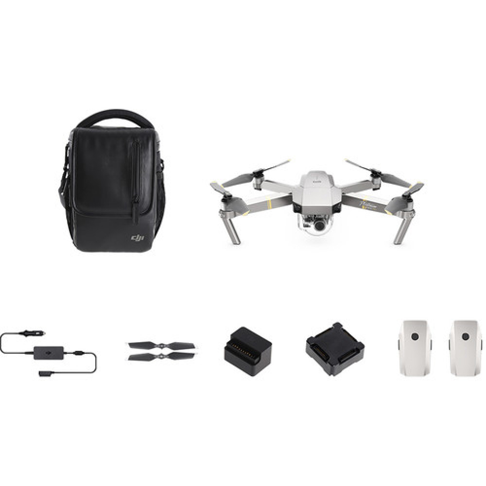 Квадрокоптер DJI Mavic Pro Platinum (Fly More Combo)