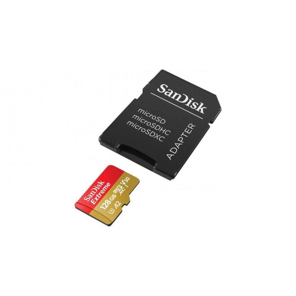 Карта памятi SanDisk 128GB Miсro-SDXC class 10 V30 UHS-I   SD-адаптер