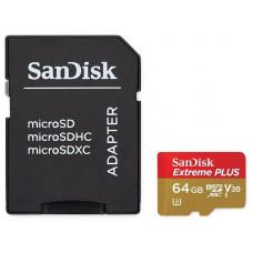 Карта пам'ятi SanDisk 64GB Miсro-SDXC class 10 UHS-I U3 A2   SD-адаптер