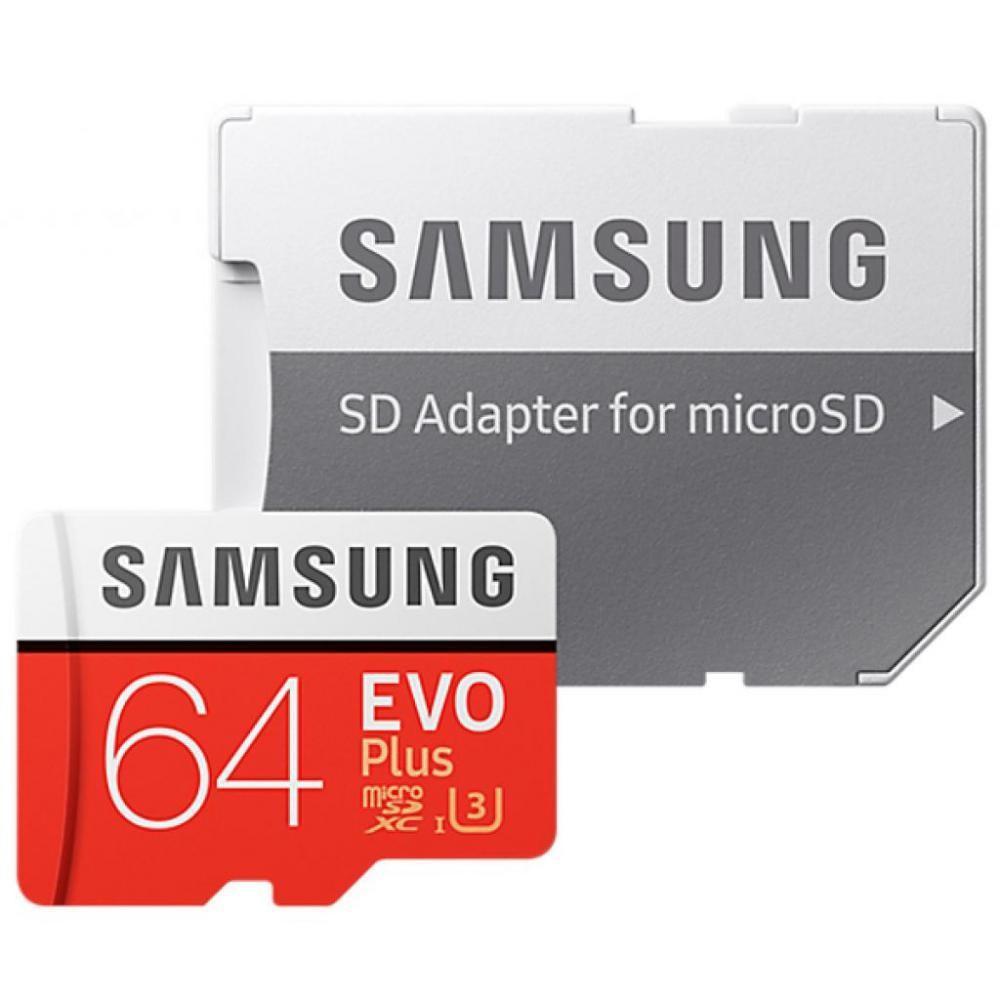 Карта пам'яті Samsung 64GB Miсro-SDXC class 10 EVO PLUS UHS-I   SD-адаптер